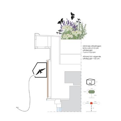 Gierzwaluw galerij opbouw Nest architect