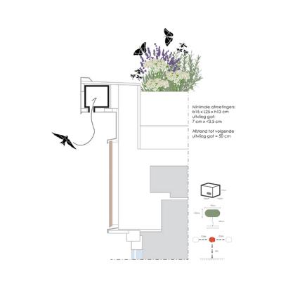 Gierzwaluw inbouwkast Nest architect