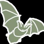 Vleermuis groen icoon