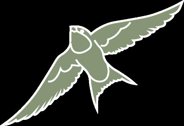 Zwaluw icoon groen